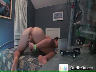 Dude busting his nuts more than bed by gothimout