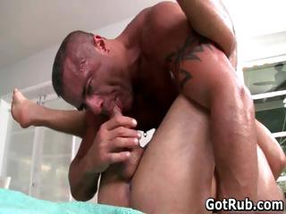 Hot sponger get his amazing body massaged part3