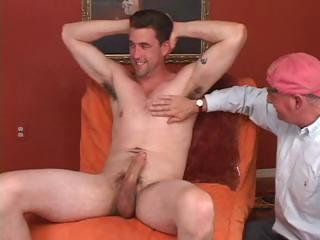Old gay dude never thought he'd get ergo lucky as A to have a piece of young cock on all occasions