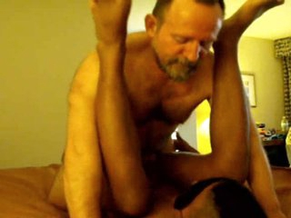 2 Beamy hairy old DAD's use BLACK blindfolded boy TWINK
