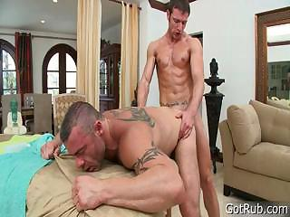 Ray gets unearth sucked during massage part6