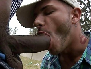 Hot sexy guy takes cock
