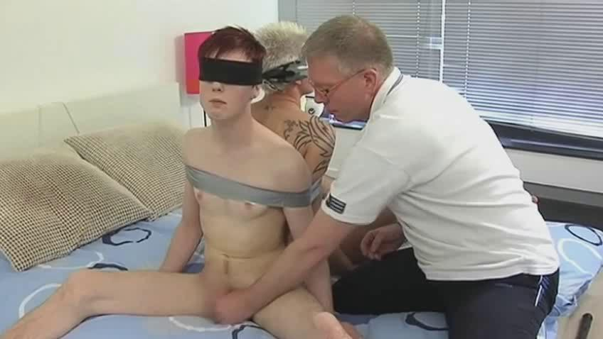 Mature gay daddy restraints two randy twinks plus suck their dicks