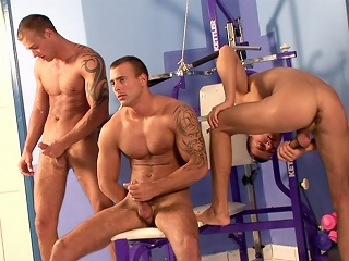 Triplets Gym Threesome...