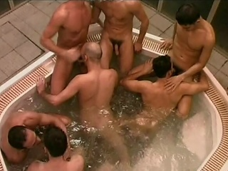 This huge whirlpool is host to a number of randy Italian men who...