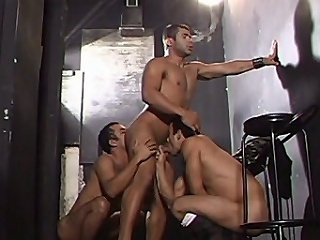 This gay systematize prosperity starts with three buffed hotties in one room...