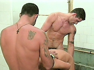 Two muscular gay cubs were naked added to insusceptible to their way to the shower room...