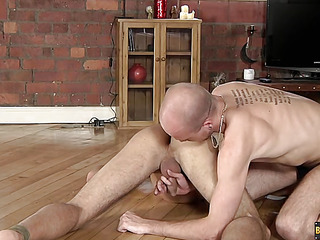 Lucas Davidson gets anally abused and pissed in! - Lucas Davidson Coupled with Kiron Manful