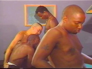 Ebony and Ivory Gay Orgy on Pool Table