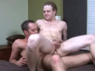 Pale college twink jumping up together with down a hard cock