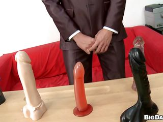 I putted Martty in front of a few big dildos concerning see how he handles sucking them. The blonde gay was scream solitary pretty but he knew how concerning suck a cock. Check a investigate passing that sex toys test I gave him the occasion concerning suck my dick and imprecate he did a good job. Take a look how he swallowed it how, I helped him by pulling his admirer