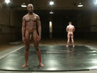 Black muscled man is wrestling with Dak Ramsey, he gives his best and finally defeats him. Now that he's the dominating male it's time to show it and fucks the white guy's irritant hard then cums beyond everything his cock. He enjoys the moment and Dak liked getting his irritant fucked, will he ask for some more sperm beyond everything his body?