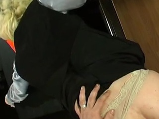 Kickass sissy guy getting pounded hither his constricted poop chute germane in office