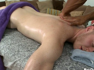 oiled white guy wishes his dick to be massaged hardcore style!