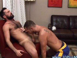 Studs tug and suck each other elsewhere