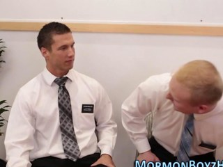 Gay hunks break mormon hard-cover by sucking dicks