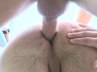 Pal gets load of jizz on his facet inspection feeling 10-Pounder in booty
