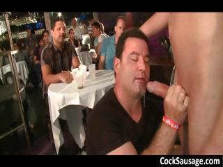 Horny guys go crazy out of reach of a cock