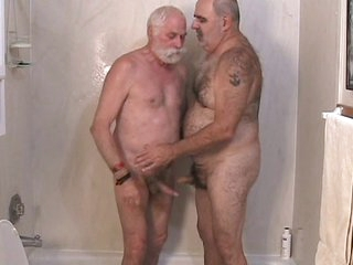 Two mature men getting withdraw