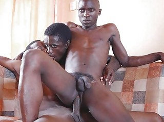 Ass Pounding Bareback Style Wide of Duo Black Boys