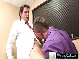 Sucking and fucking overhead the job by workingcock