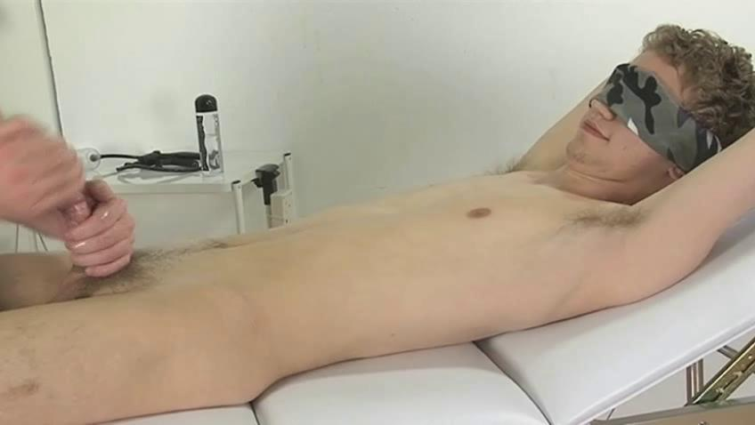 Blindfolded gay boy gets his dick wanked enjoyable