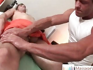 Tattooed hunk Jason Complement gets massaged