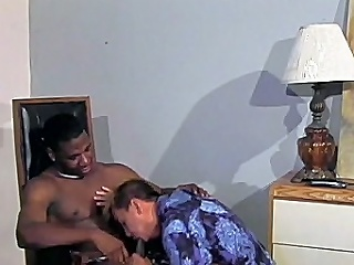 This awesome interracial gay sex clip begins concerning macho black hunk...
