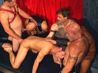 Leather daddies gang banging brad benton...