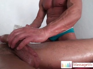 Seth property his cock massaged there a fleshlight