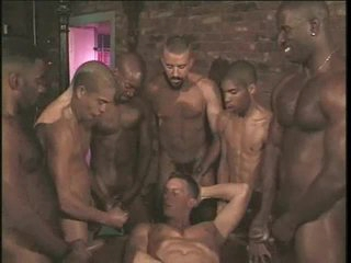 Gay anal gangbang with hard body hotties