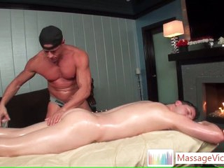 Scottie gets oiled up ass rimming