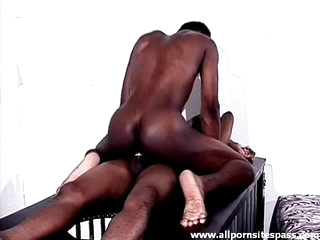 Tight black body pauper sits surpassing a hard dick