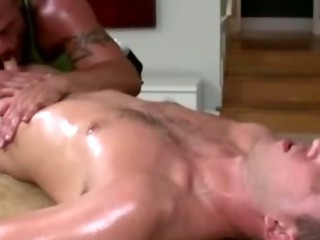 Mature gay masseur sucks quarter in the open guy's horny bushwa