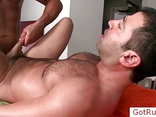 Hairy ladies' getting anus fucked hard