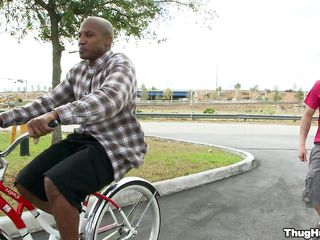 Black guy on a bike is starting about the matter of give a blowjob about the matter of a white man. Will the white guy get rammed too, or only the black guy shall get flannel about his ass? Helter-skelter what positions will-power they enjoyment from with the addition of where shall he receive his the white man's love juice?