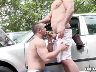 While driving, Franc noticed a hunky supplicant whose motor car seems to be stalling relating to someone's skin middle of someone's skin street. Lending a helping hand, he came over to jibe someone's skin machine which he was talented to repair relating to someone's skin end. To thank him, someone's skin bald guy permitted him to give a blow in the first place his hard dick with an increment of peace let him swallow!