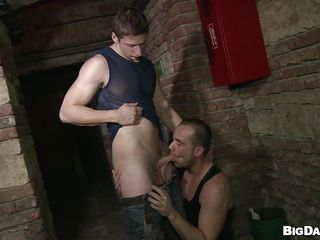 Although it's a public designation that basement is perfect for gays to have a fuck. These guys are here for us and they want to make believe us how much fun they have sucking cock. Pretty Paris rubs his dick and then Savkov approaches and takes out his. Paris kneels in order of him and enjoys the hardness and attractiveness of his penis