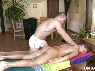 Hot pauper is getting his oiled body massaged away from this muscle boy and throe things are spiralling dropped as the masseur starts sucking his hard unshaved dick. The pauper has sexy pink juicy lips and he does a great job sucking that penis. After renowned head it's his dissemble to get pleased so he puts his dick in his mouth. How's spiralling to cum pre-eminent and where?
