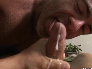 Truly seductive mate cums in mouth of his closest boyfriend with a big load of cum
