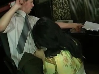 Nasty joyous sissy in lacy black nylons getting giving hard-on up his booty