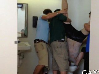 Gay group sex party in public