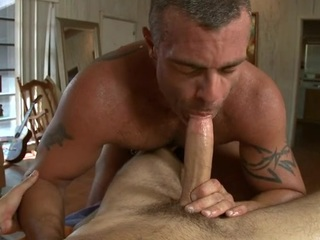 Comely twink is delighting hunk with wet a-hole rimming