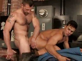 Hairy Muscle Studs Quickie Anal Shacking up Session