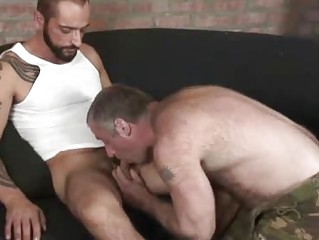 Horny Tattooed Stud Fucking A Hairy Bear