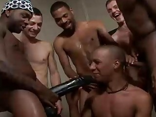 Charming Black Boy Swallowing COcks Together with Bukkaked