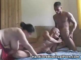 Compilation of threesome bisexual action with obese brunettes and ebony brunettes