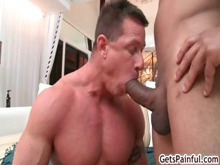 Mature lend substance guy sucking black cock part5