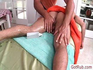 Hunky dude getting his first ever gay massage by gotrub
