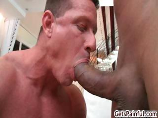 Mature muscle guy sucking black weasel words part5